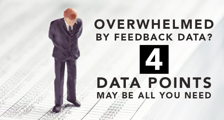 Overwhelmed by Feedback Data? 4 Data Points May be All You Need.