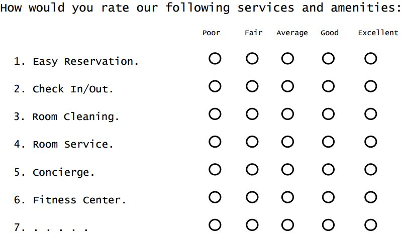 Radio button matrix questions induce survey fatigue